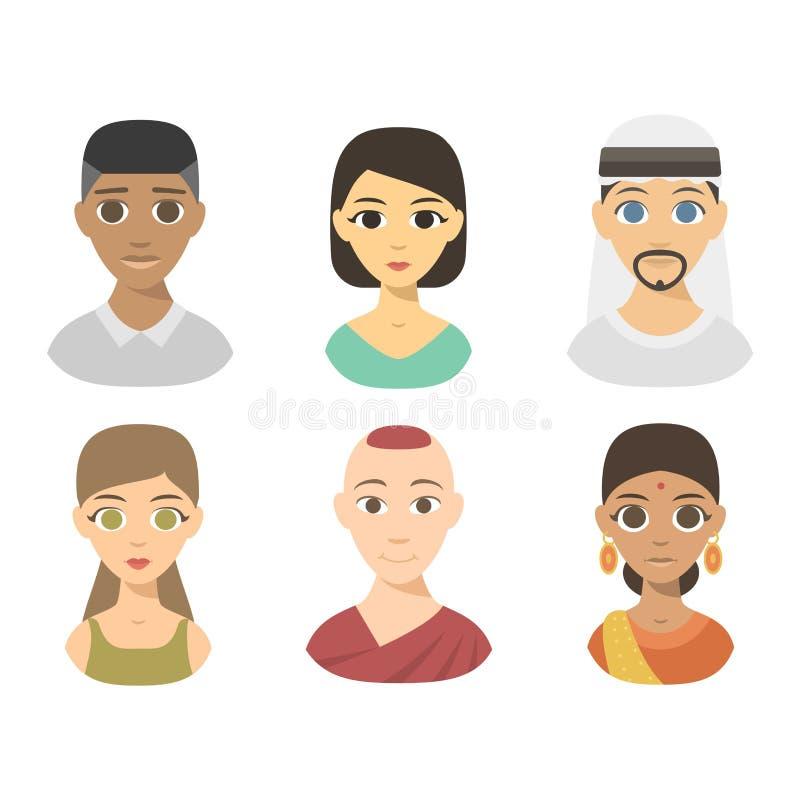 Illustration de vecteur de course de nationalité de personnes illustration de vecteur
