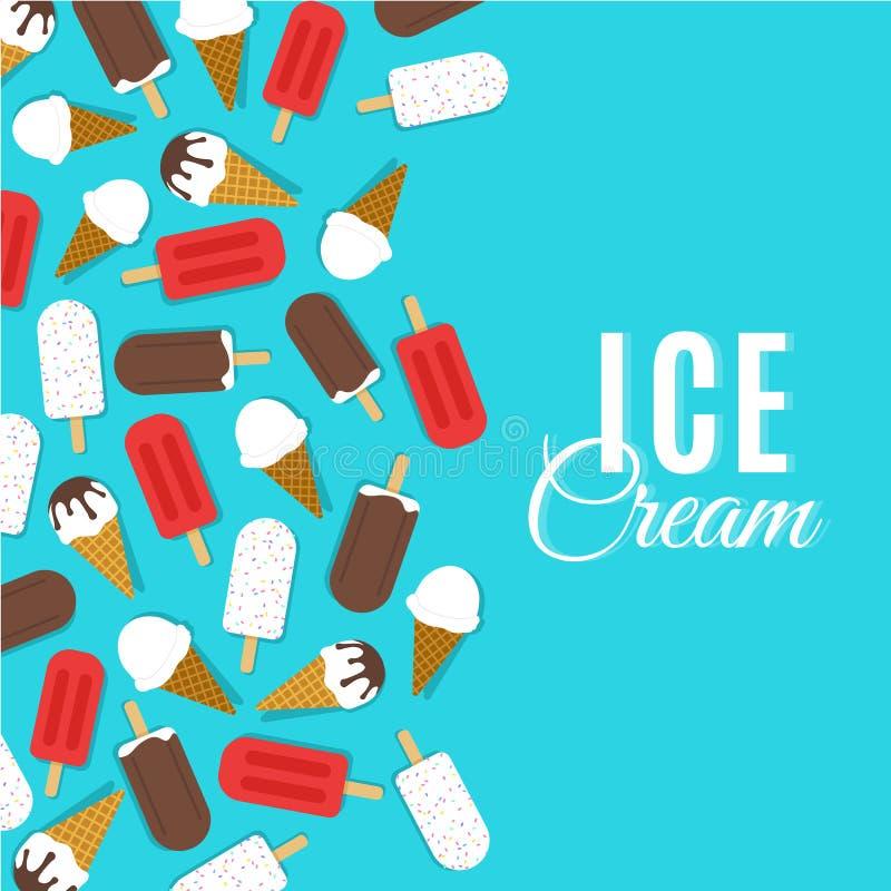 Illustration de vecteur de crème glacée  illustration de vecteur