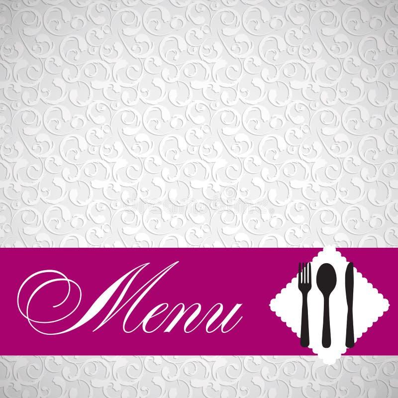 Illustration de vecteur de descripteur de carte de restaurant illustration de vecteur