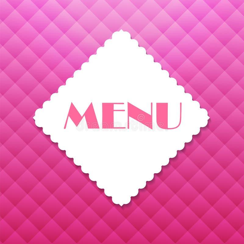 Illustration de vecteur de descripteur de carte de restaurant illustration libre de droits