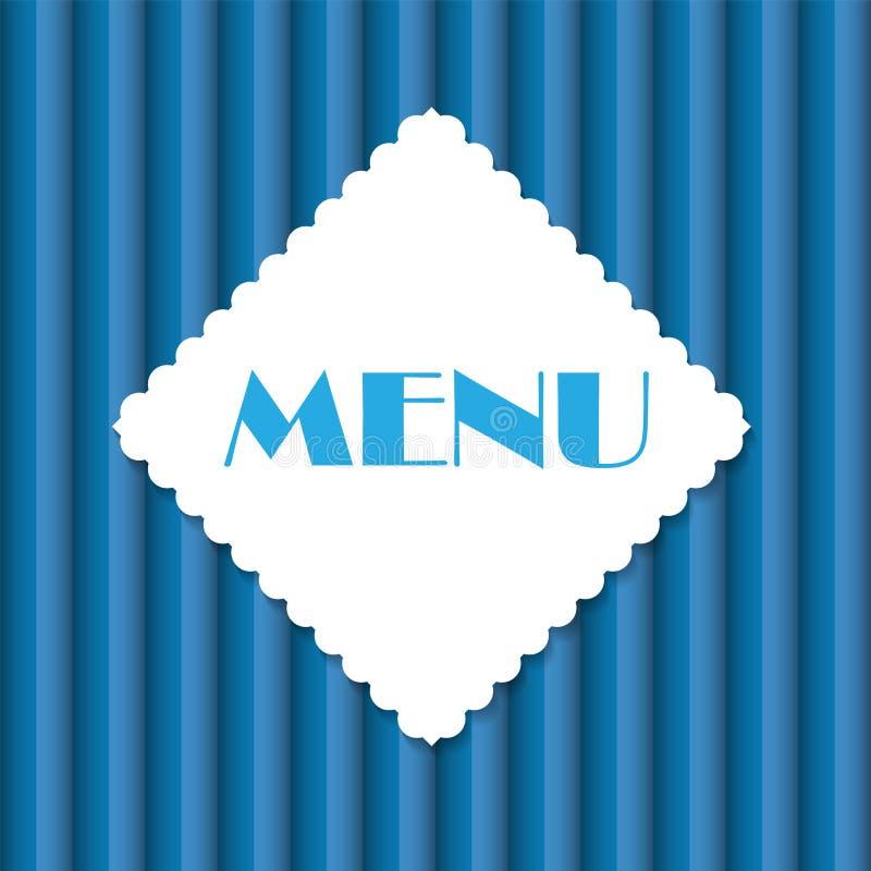 Illustration de vecteur de descripteur de carte de restaurant illustration stock