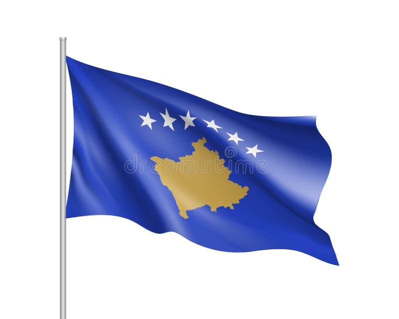 Illustration de vecteur de drapeau national de Kosovo illustration libre de droits