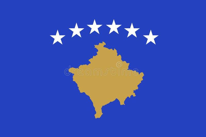Illustration de vecteur de drapeau national de Kosovo illustration de vecteur