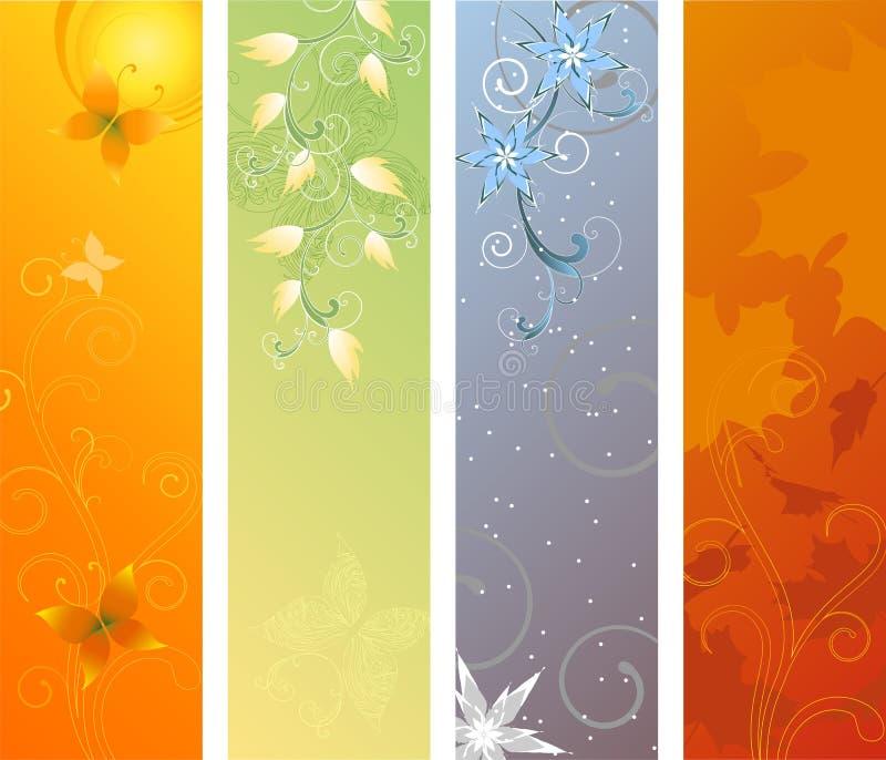Illustration de vecteur de drapeaux de saison illustration de vecteur