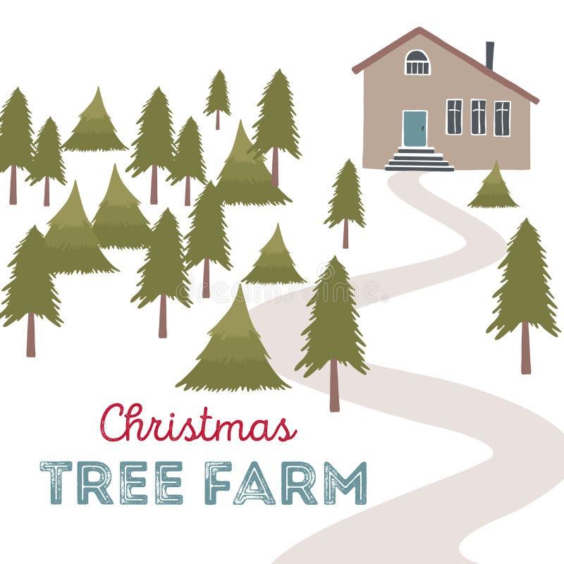Illustration de vecteur de ferme d'arbre de Noël illustration libre de droits
