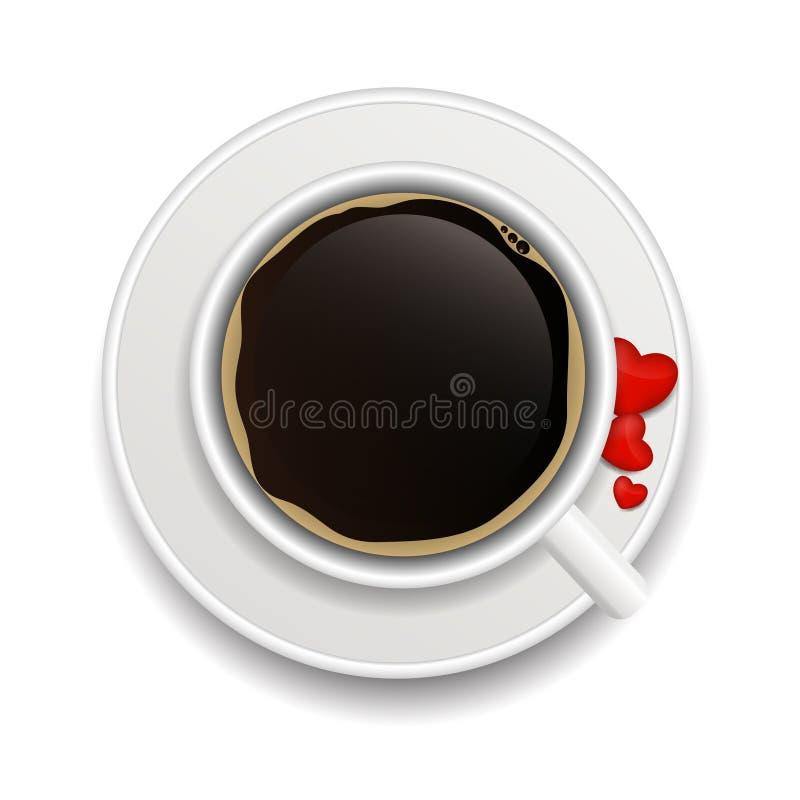 Illustration de vecteur de fond d'invitation de café illustration stock