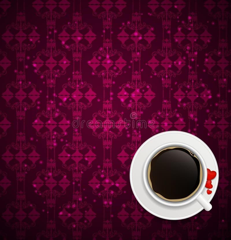 Illustration de vecteur de fond d'invitation de café illustration de vecteur