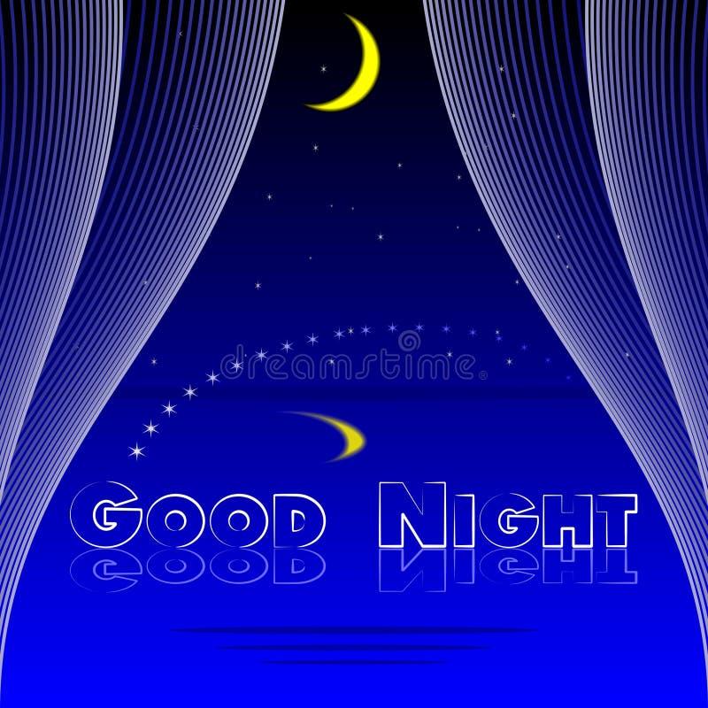 Illustration de vecteur de fond de chambre à coucher de bonne nuit illustration de vecteur