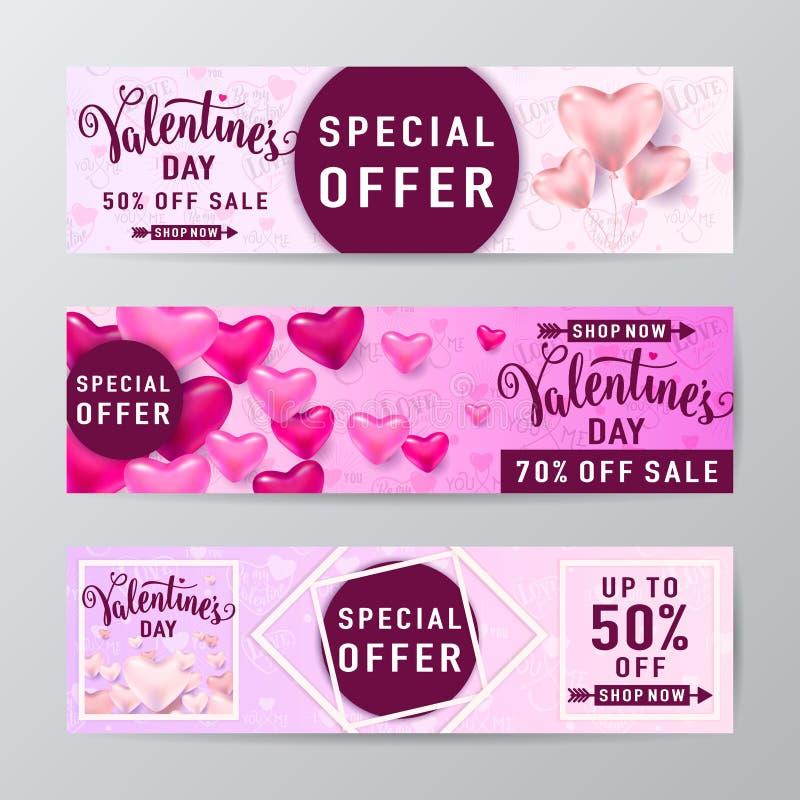 Illustration de vecteur de fond de vente de jour de valentines illustration libre de droits