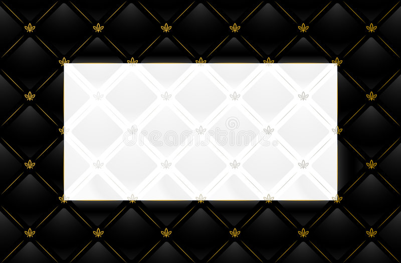 Illustration de vecteur de fond en cuir noir illustration libre de droits