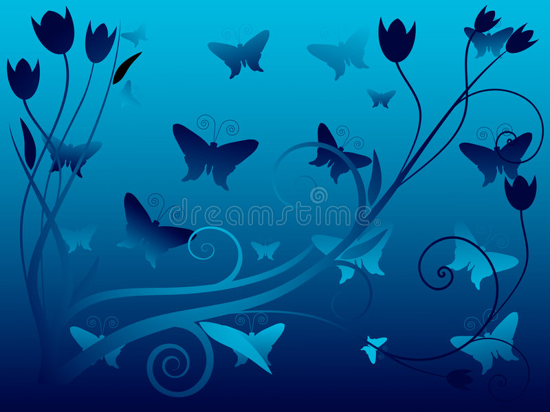 Illustration de vecteur de fond floral abstrait illustration stock