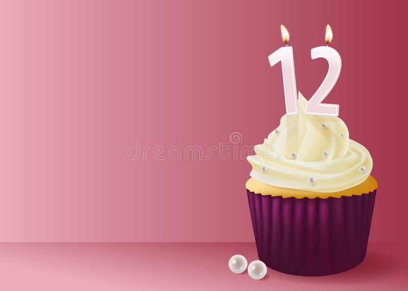 Illustration de vecteur de gâteau de tasse illustration stock