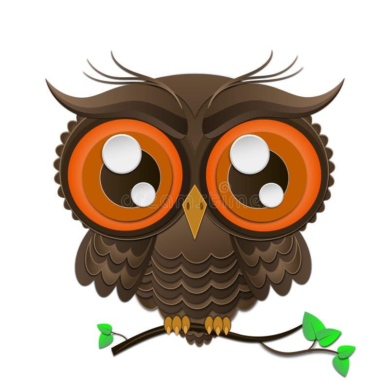 Illustration de vecteur de hibou illustration stock