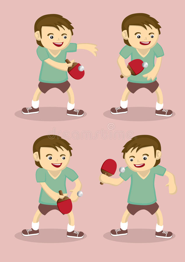 Illustration de vecteur de joueur de ping-pong illustration stock