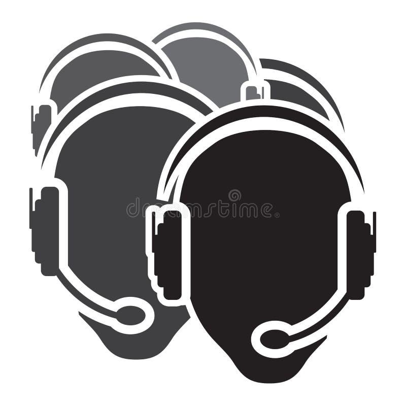 Icône de centre d'attention téléphonique illustration de vecteur