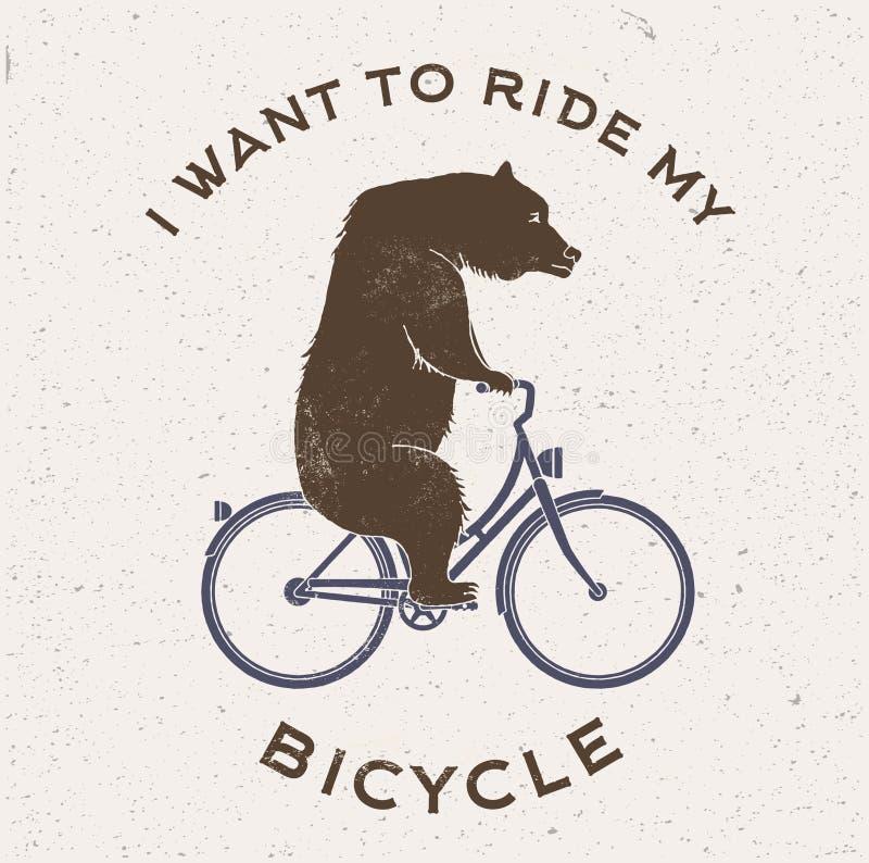 Illustration de vecteur de la bicyclette de concerner photos stock