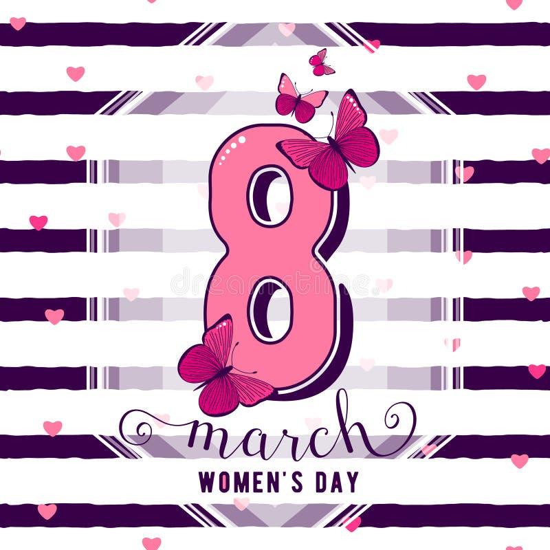 Illustration de vecteur de la salutation du jour des femmes du 8 mars illustration de vecteur