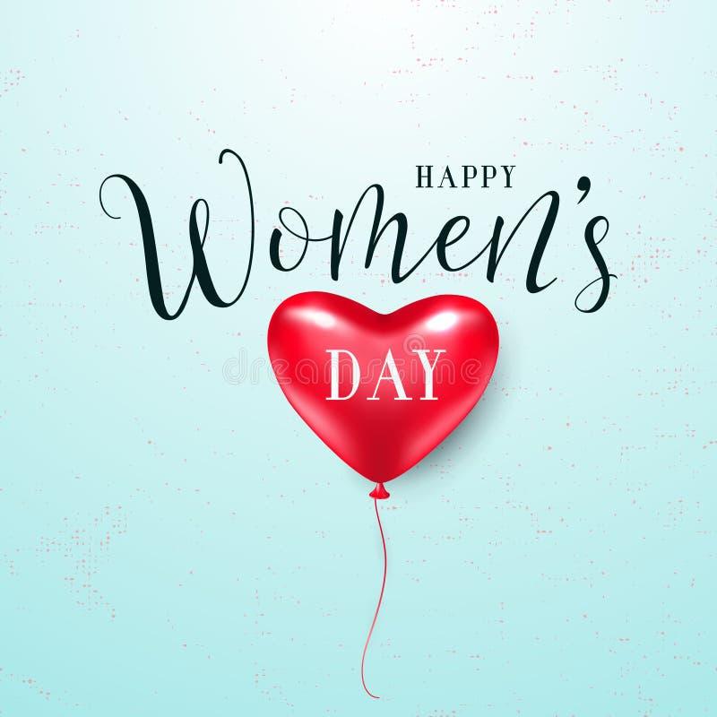 Illustration de vecteur de la salutation du jour des femmes du 8 mars illustration stock