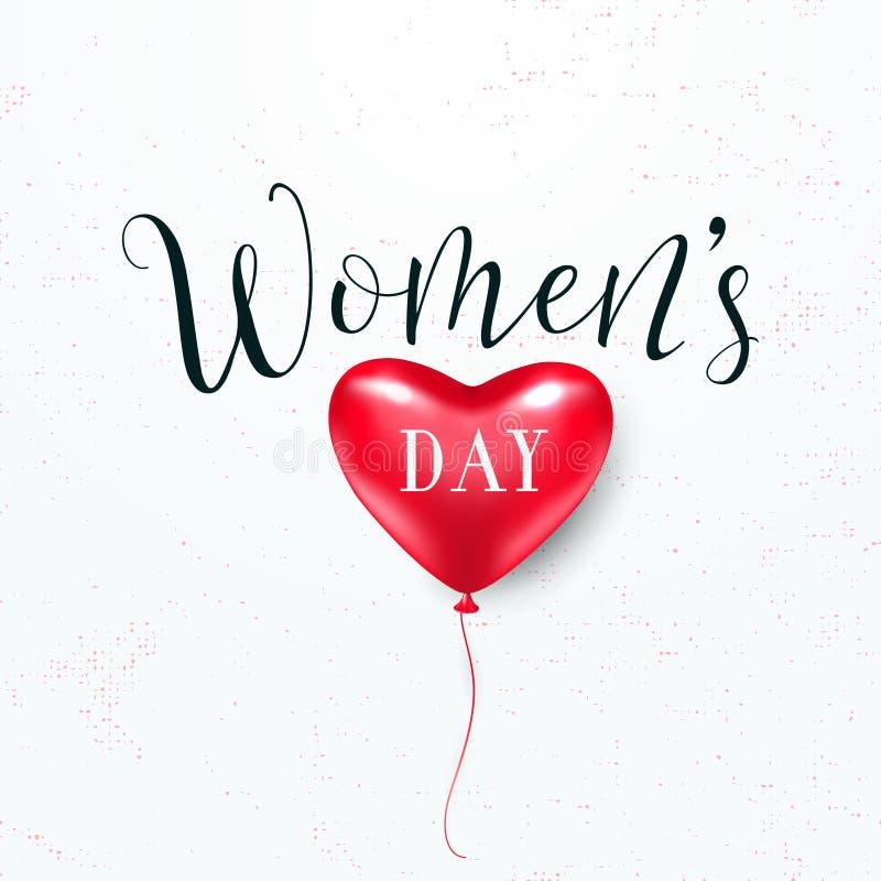 Illustration de vecteur de la salutation du jour des femmes du 8 mars illustration libre de droits
