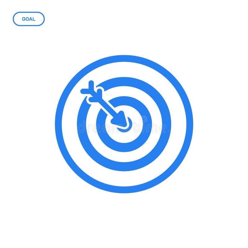 Illustration de vecteur de ligne plate icône de cible Concept de construction graphique de succès de démarrage illustration stock