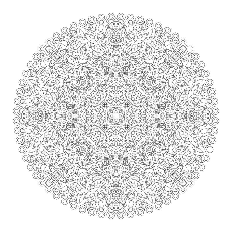 Download Illustration De Vecteur De Livre De Coloriage De Mandala Illustration de Vecteur - Illustration du ligne, retrait: 77154421