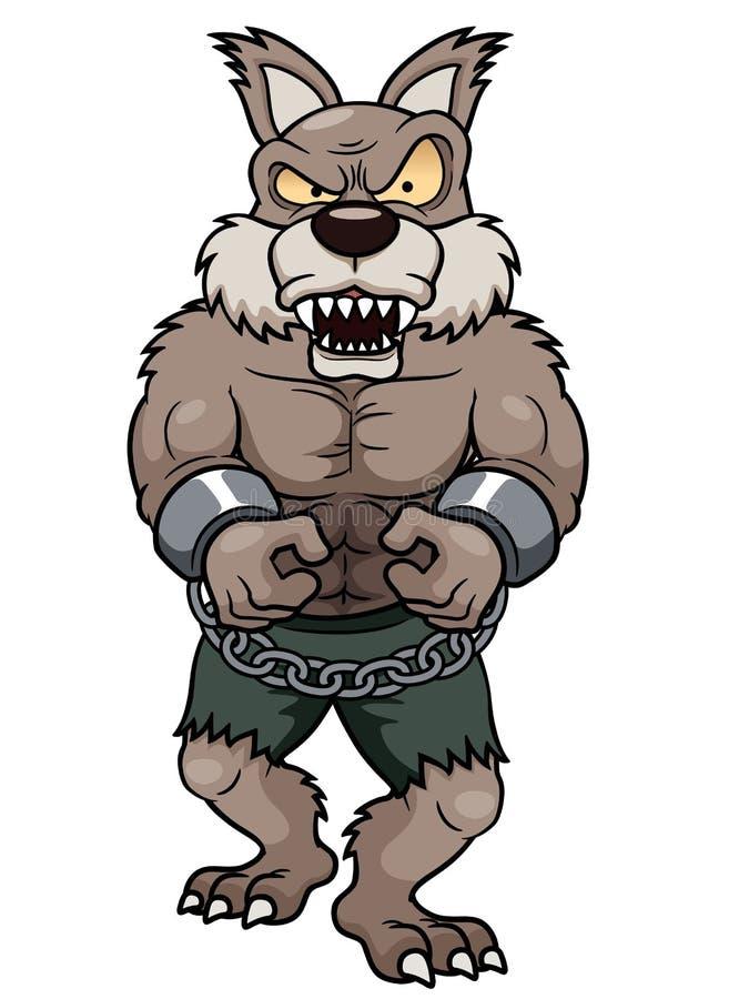 Loup-garou de bande dessinée illustration stock