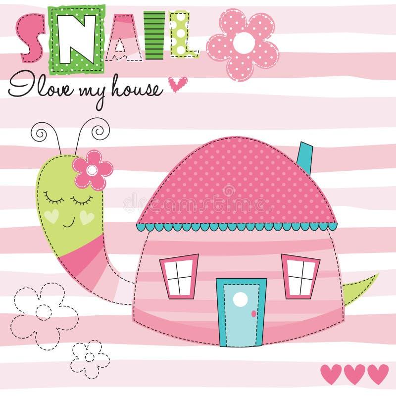 Illustration de vecteur de maison d'escargot illustration stock