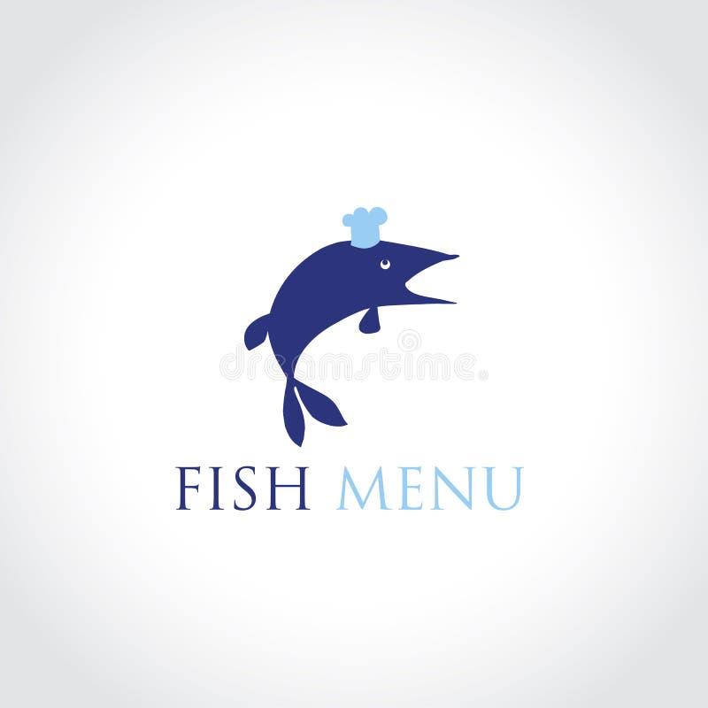 Illustration de vecteur de menu de poissons de concept illustration de vecteur