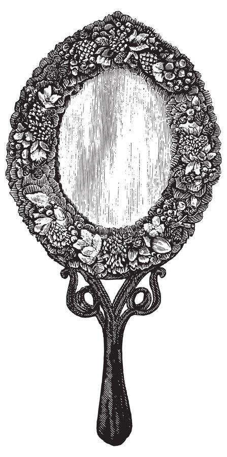 Illustration de vecteur de miroir de vintage illustration libre de droits