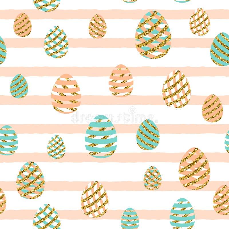 Illustration de vecteur de modèle sans couture de salutation de Pâques illustration libre de droits