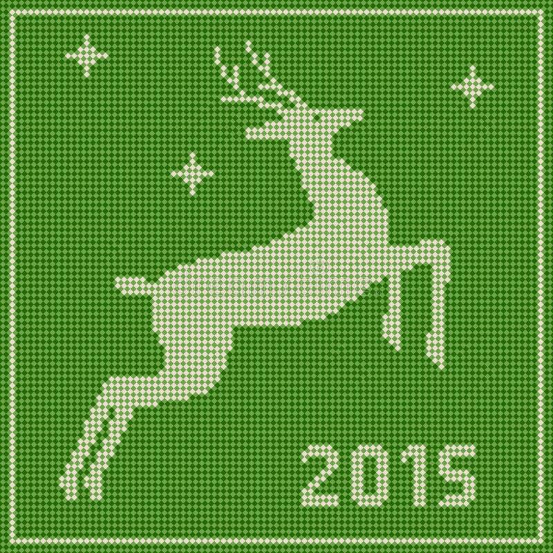 Illustration de vecteur de Noël avec des cerfs communs illustration libre de droits