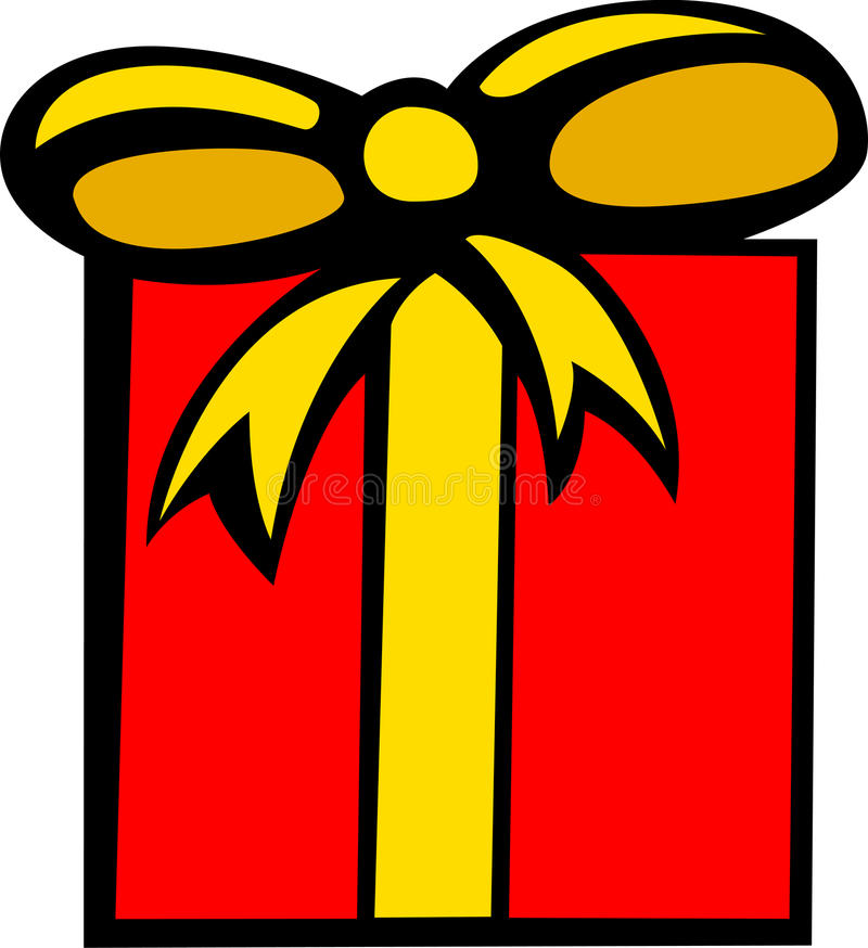 illustration de vecteur de Noël ou de cadeau d'anniversaire illustration stock