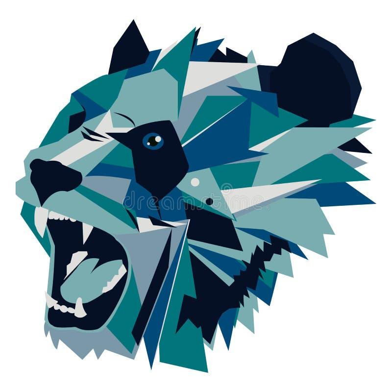 Illustration de vecteur de panda géométrique d'ours d'hurlement illustration de vecteur