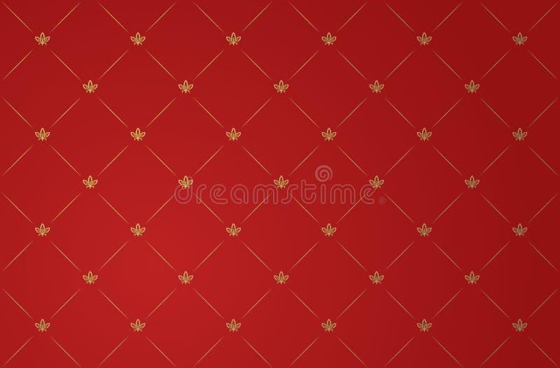 Illustration de vecteur de papier peint rouge de cru illustration stock
