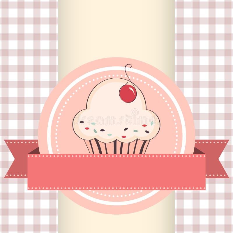 Illustration de vecteur de petit gâteau illustration stock