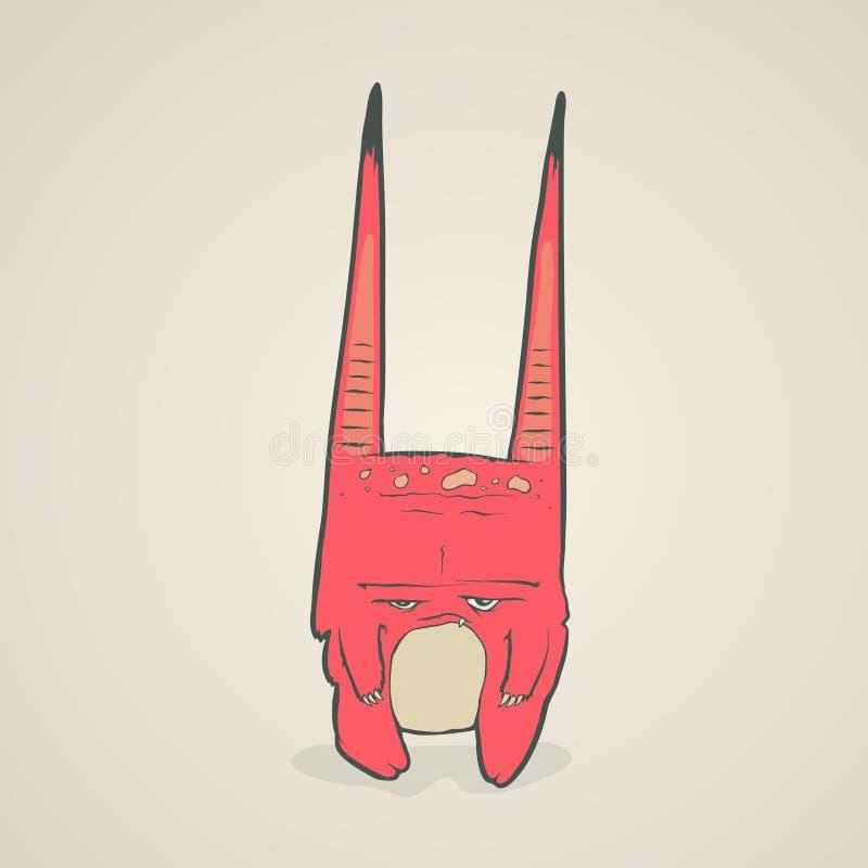 Illustration de vecteur de petit monstre rose avec illustration libre de droits