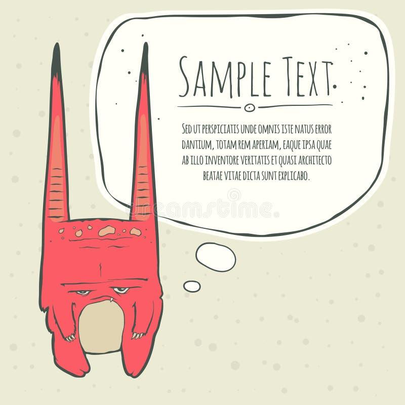 Illustration de vecteur de petit monstre rose avec illustration de vecteur
