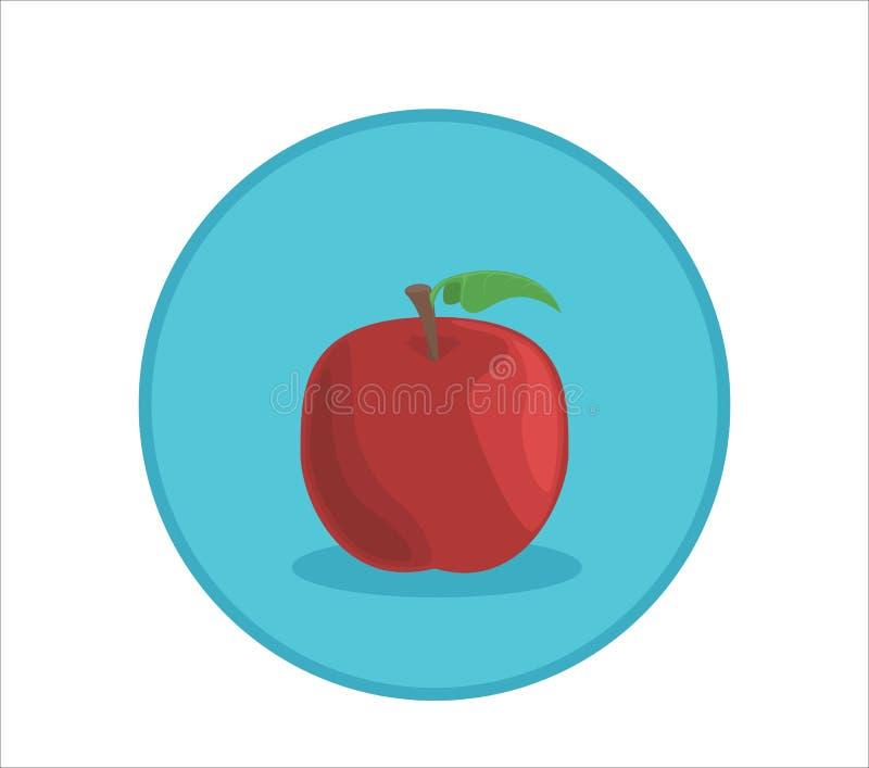 Illustration de vecteur de pomme Insigne arrondi de symbole illustration libre de droits