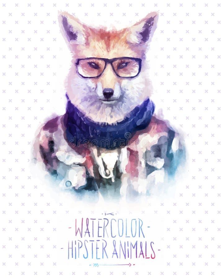 Illustration de vecteur de portrait de renard rouge dedans illustration stock