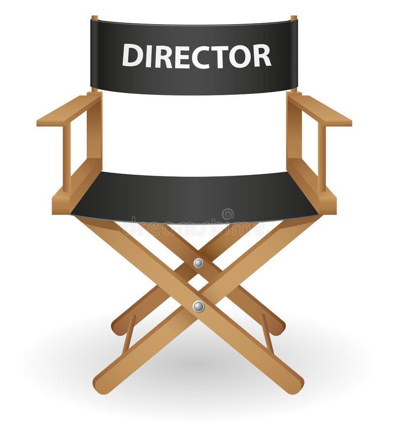 Illustration de vecteur de présidence de film de directeur illustration stock