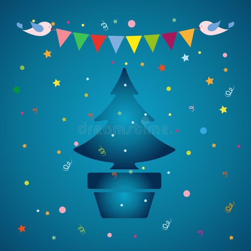 Illustration de vecteur de réveillon de Noël illustration libre de droits