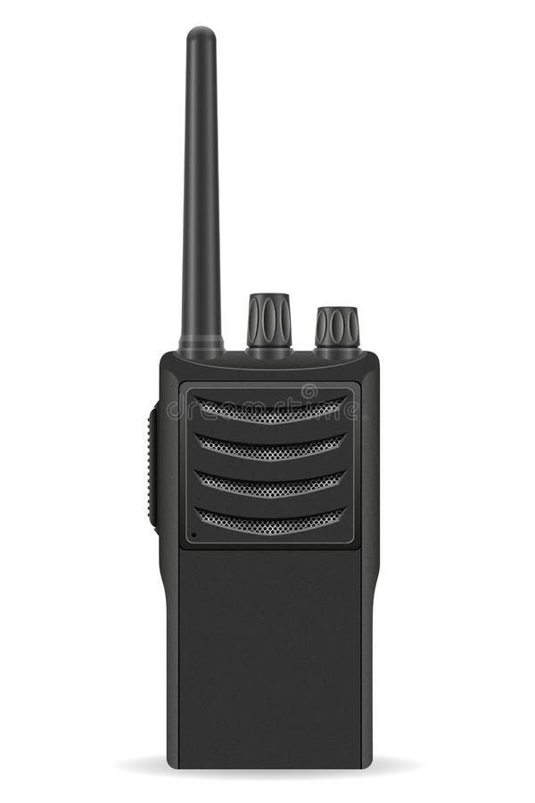 Illustration de vecteur de radio de communication de talkie - walkie illustration libre de droits