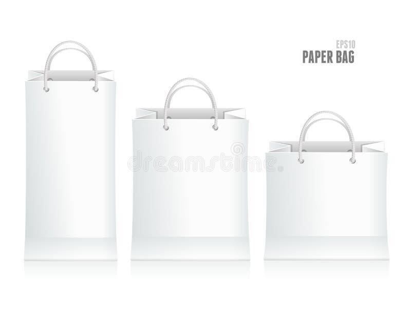Illustration de vecteur de sac de papier de achat illustration stock