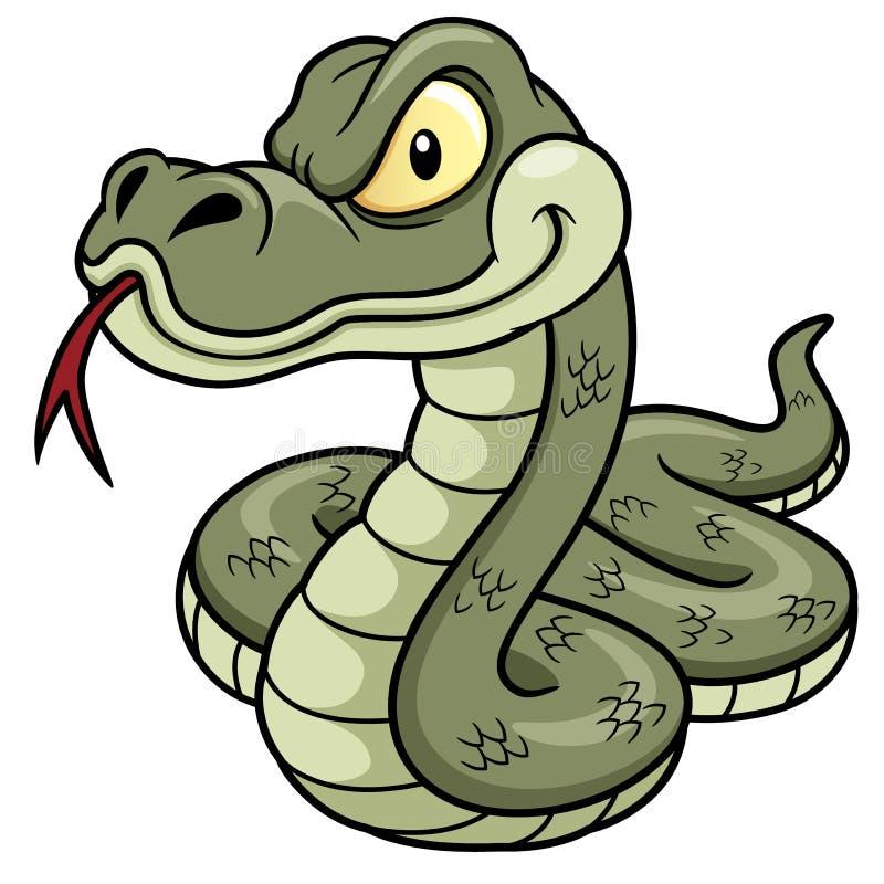 Serpent de bande dessinée illustration libre de droits