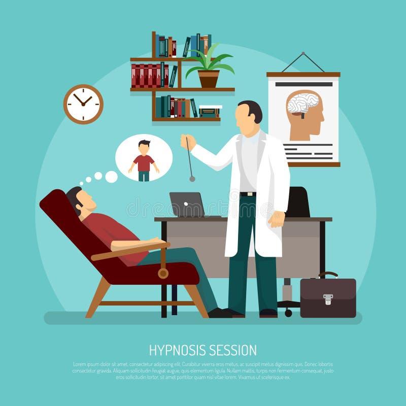 Illustration de vecteur de session d'hypnose illustration libre de droits