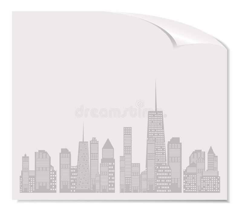 Illustration de vecteur de silhouette de villes. ENV 10. illustration de vecteur