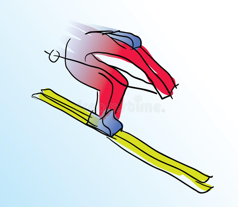 Illustration de vecteur de skieur coloré illustration de vecteur