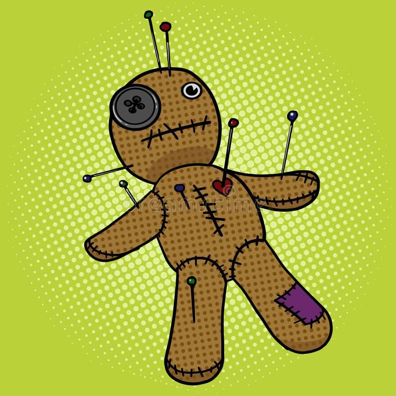 Illustration de vecteur de style d'art de bruit de poupée de vaudou illustration libre de droits
