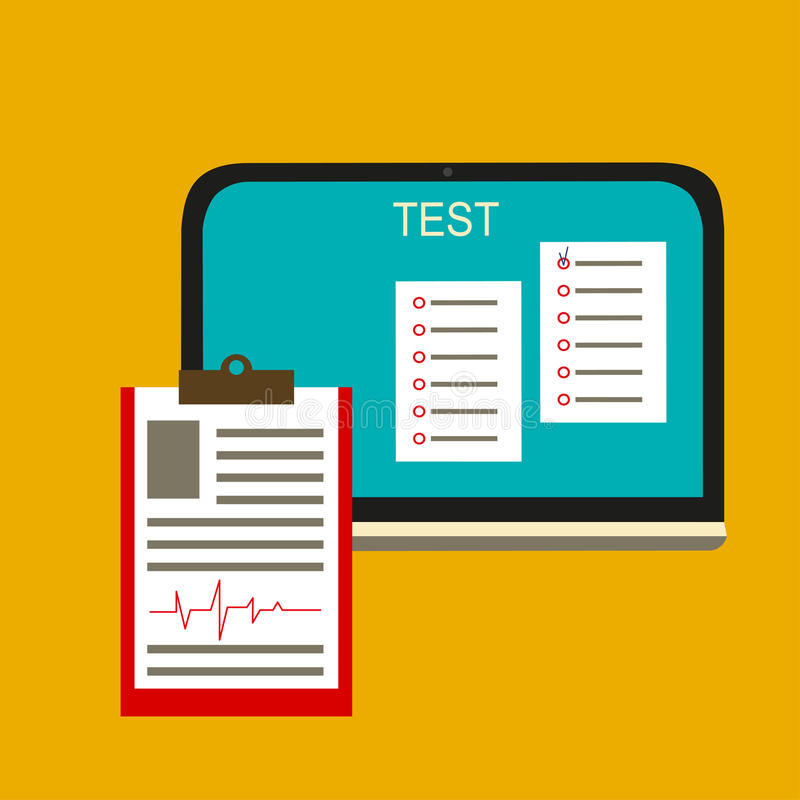 Illustration de vecteur de test en ligne illustration de vecteur