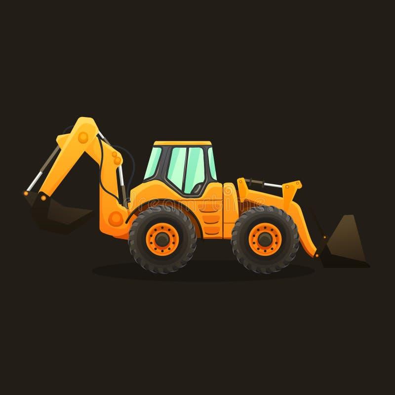Illustration de vecteur de tracteur sur le fond blanc illustration stock